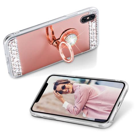 Ring Stand Iring Stand Holder Water Glitter 2 glitter finger ring holder mirror tpu cover for iphone x 7 8 plus 6 ebay