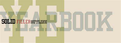 typography yearbook yearbook fonts