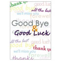 Pics photos goodbye and good luck messages