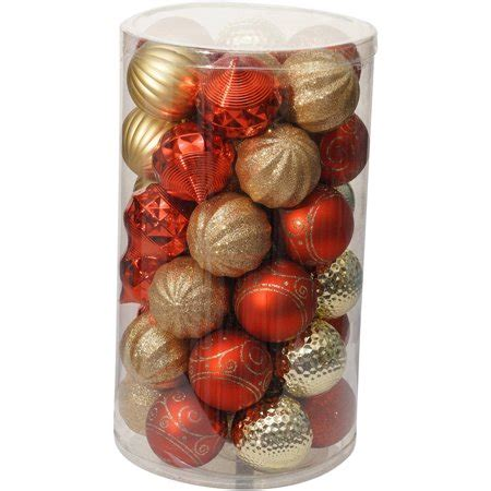 walmart ornaments pack time ornaments 60mm shatterproof ornament set of 41 walmart