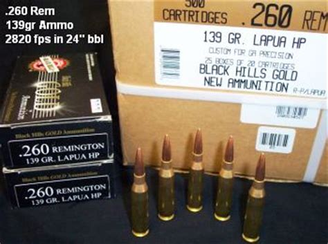 260 rem match ammo available 171 daily bulletin