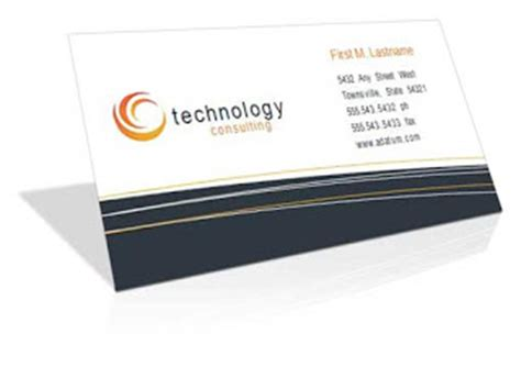 Consulting Business Card Templates Free by Free Themes Store Business Card Technology Consulting