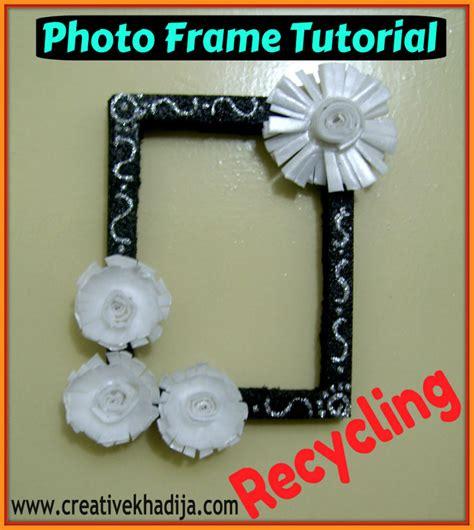 photo frame ideas styrofoam flowers photoframe tutorial