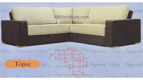 jual sofa minimalis leter l topaz harga promo