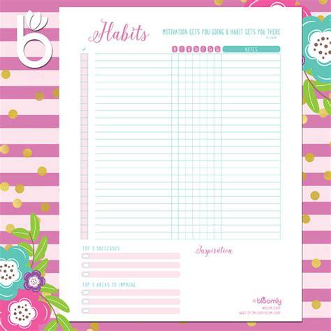 printable habit tracker bullet journal weekly habit tracker printable daily habits bullet journal