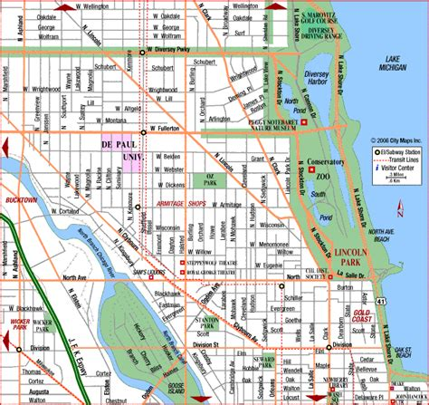 Lincoln Park Chicago Map | chicago map lincoln park