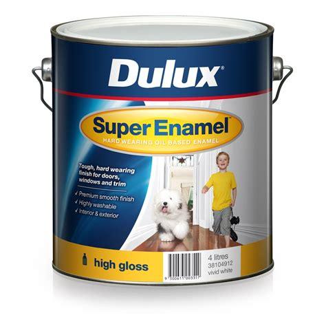 high gloss paint dulux enamel 4l high gloss white enamel paint
