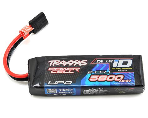 Batery Lipo 2s quot power cell quot 25c lipo battery w id traxxas connector 7 4v 5800mah by traxxas tra2843x