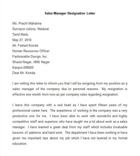 Resignation Letter Sle Format For Service Crew Resignation Letter Template 28 Free Word Pdf Documents Free Premium Templates