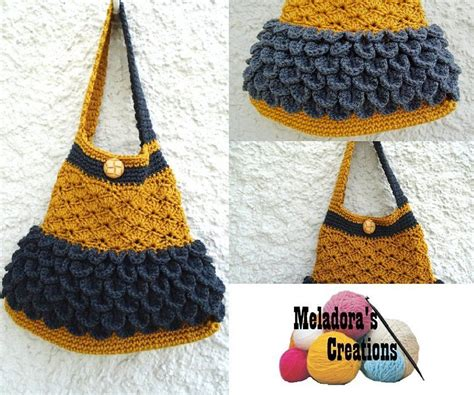 crochet rice bag pattern scale and shell bag free crochet pattern video