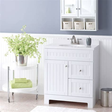 beadboard bathroom vanity beadboard isn t just for walls this charming vanity with