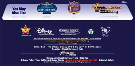 Office Site Tinkerbell The Official Dvd And Hi Def Website