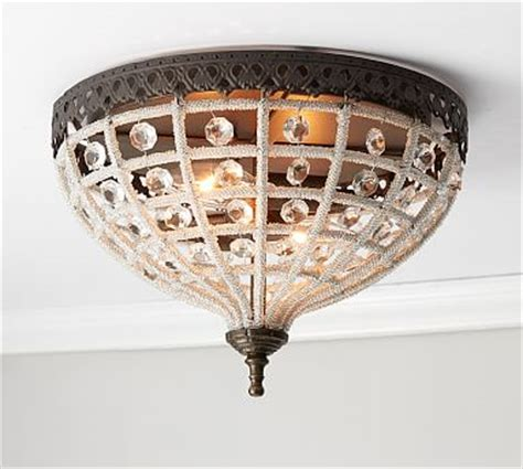 rustic ceiling lighting pottery barn