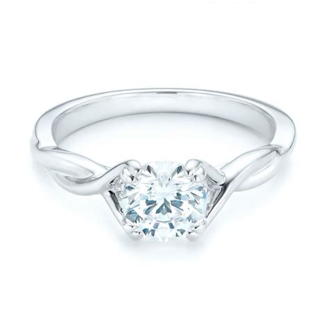 twist solitaire engagement ring 102702