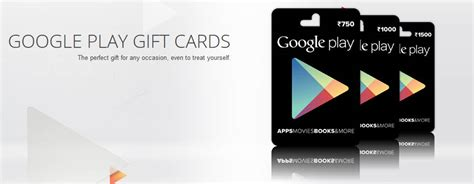 Gift Card India - google play gift cards now available in india for 750 1500