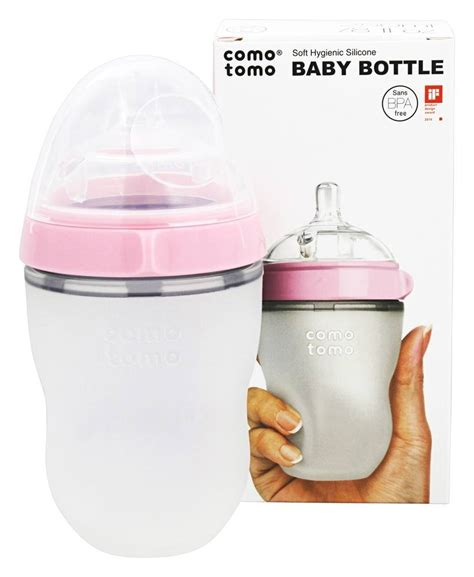 Comotomo Soft Hygienic Silicone Baby Botol 150ml With Flow 1 buy comotomo soft hygienic silicone baby bottle single pack 3m pink 8 oz at luckyvitamin