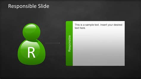raci template for powerpoint with sticky notes