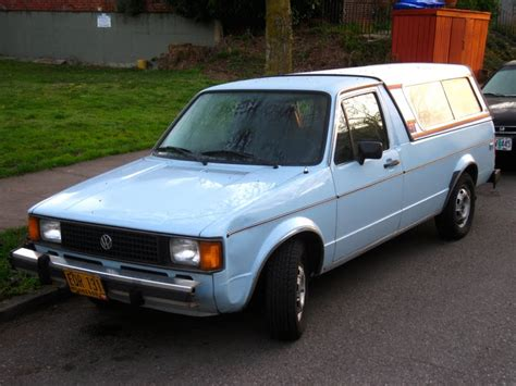 volkswagen rabbit truck 1982 old parked cars 1982 volkswagen rabbit lx diesel pickup