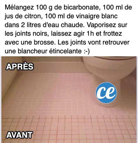 Comment Nettoyer Des Joints De Carrelage Blanc by Joints De Carrelage Noircis La Recette Magique Pour Les