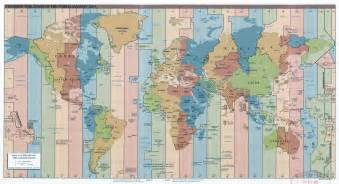 large time zones map of the world 2015 vidiani