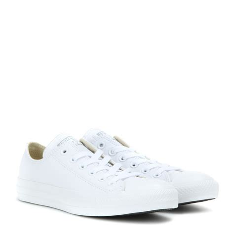 all white sneakers lyst converse chuck all leather sneakers in