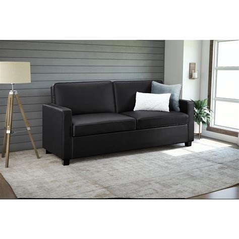 faux leather sleeper sofa casey size black faux leather sleeper sofa 2152007
