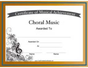 choir certificate template free printable certificates for graduation and more