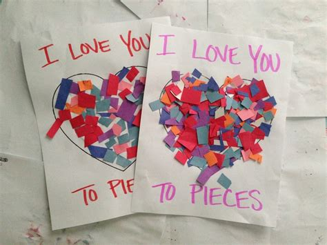 i you to pieces card template 4 s day crafts