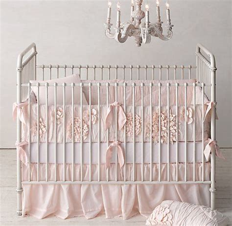 Washed Appliqu 233 D Fleur Nursery Bedding Restoration Fleur Crib Bedding