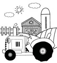 Farm Tractor Coloring Pages country farm coloring pages cooloring