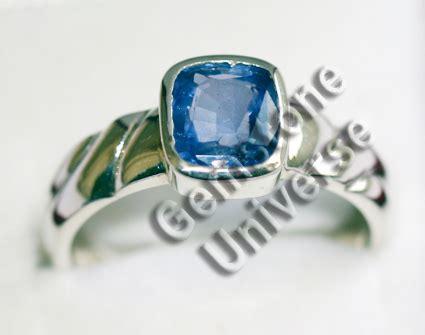 Yellow Sapphire Ceylon Set In Silver 925 Blue Sapphire Neelam Gem Neelam Blue