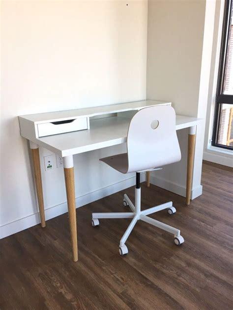 Midcentury Desk Chair Ikea Linnmon Hilver Desk W Alex Drawer Unit And Swivel