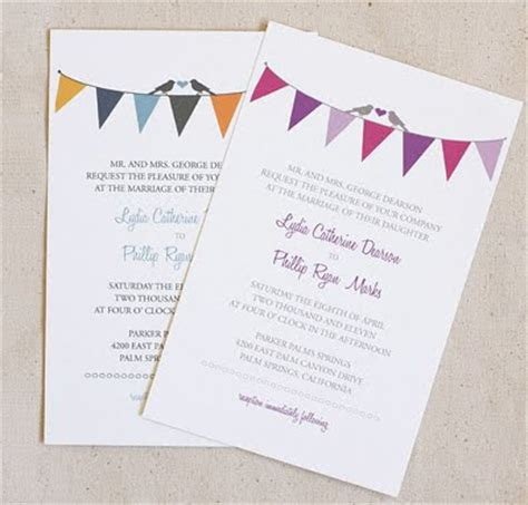 free bunting wedding stationery set design inspiration