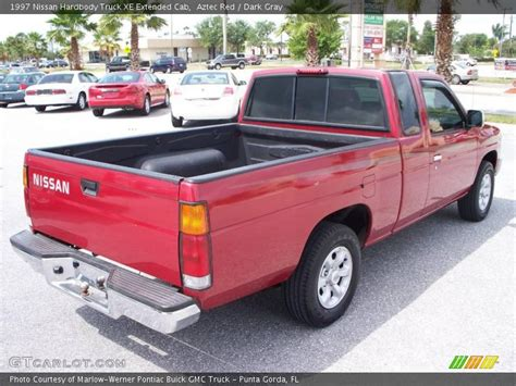 gray nissan truck 1997 nissan hardbody truck xe extended cab in aztec red