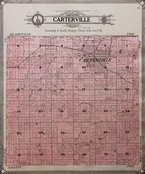 Williamson County Il Court Records 1908 County And Township Maps Williamson County Illinois Historical Society