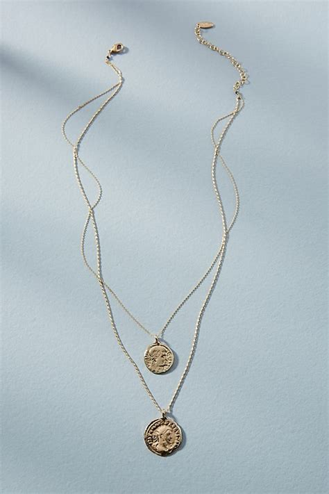 Layered Necklaces The Accessory by Coin Layered Necklace Anthropologie