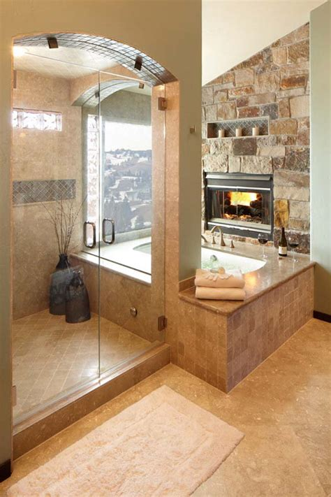 Fireplaces In Bathrooms 51 Mesmerizing Master Bathrooms With Fireplaces Jim