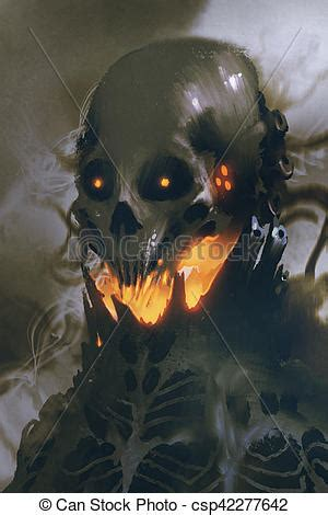 sci fi character  alien skull  dark background
