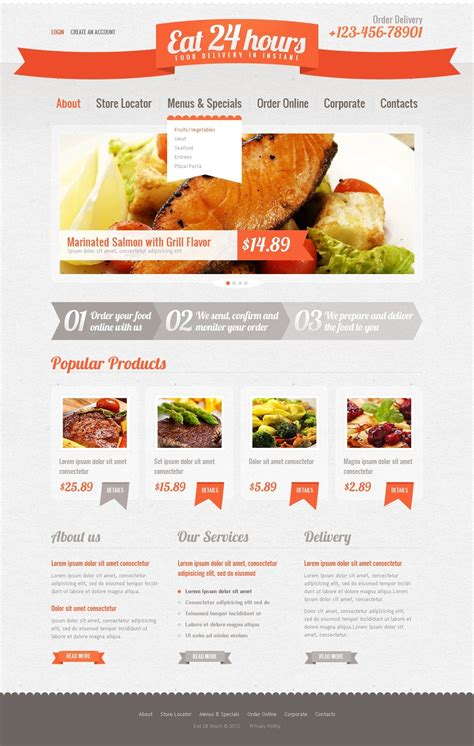 Catering Website Template 39142 Catering Website Templates Free