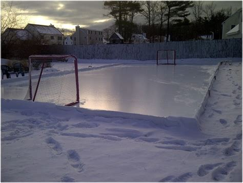 how to make your backyard rink easy the gardening