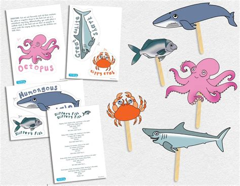 Slippery Fish Template by Slippery Fish Song Puppets