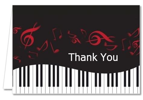 printable music thank you cards thank you card inspiring musical thank you cards music