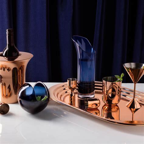 cocktail glass set buy tom dixon plum copper glass set of 2 amara