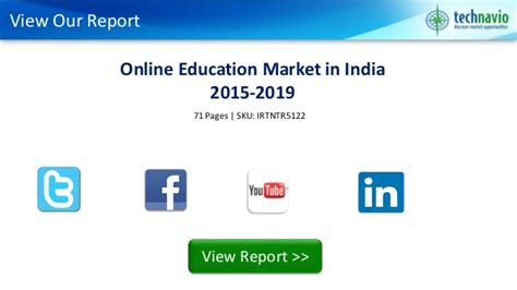 Distance Mba In India 2015 by Education Market In India 2015 2019