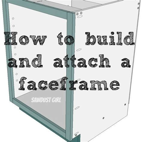 building face frame cabinets how to build and attach a cabinet faceframe sawdust 174
