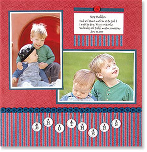 brothers scrapbook layout more info on my page www scrapbooking 101 scrapbook ideas supplies and more