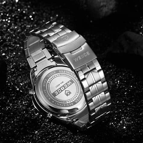 weide jam tangan digital analog premium stainless steel