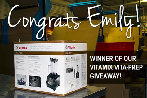 Vitamix Giveaway - and our vitamix winner is emily tundra restaurant supply