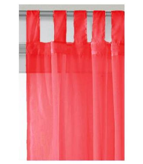 red tab top curtains red tab top voile panel 150cm wide net curtain 2 curtains