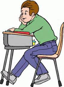 student at a desk student clipart clipart best
